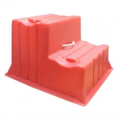 Mountie Portable Step Mounting Block Red