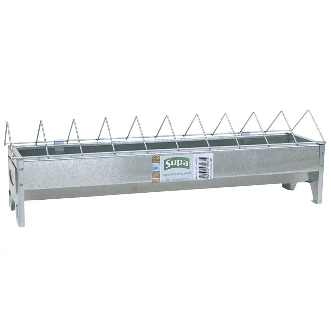 Supa Galvanised Poultry Trough Feeder For Chickens 50cm