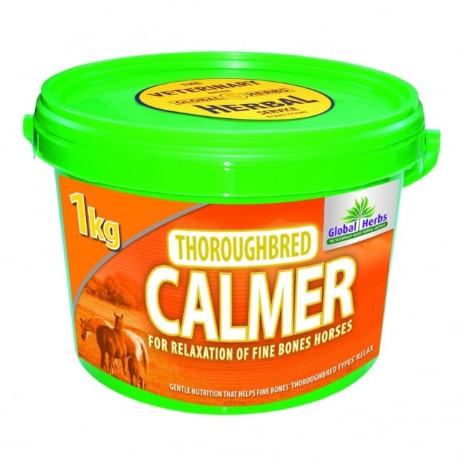 Global Herbs Thoroughbred Calmer - Horse Supplement 1Kg