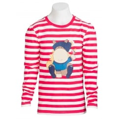 Amelie Childs Long sleeve Top Berry Stripe