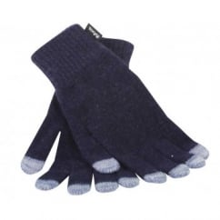 Beeston Ladies Conductive Gloves Night Blue OneSize