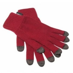 Beeston Tech Gloves Claret OneSize - Touch-Screen-Phone Friendly Gloves