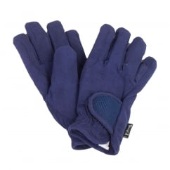 Glow Childs Fleece Lined Riding Gloves Night Blue