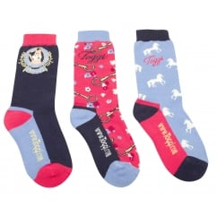 Lilium Kids 3 Pack Socks Navy Mix