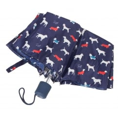 Muriel Umbrella Night Blue Dog Print