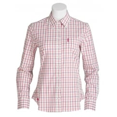 Priscilla Ladies Tattersall Shirt Butterscotch Check