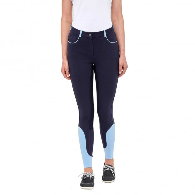 Toggi Savoy Ladies Sock Bottom Summer Riding Breeches Night Blue