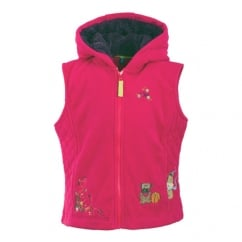 Sparkler Childs / Kids Fleece Gilet Lady Pink