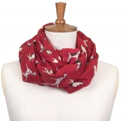 Whisby Printed Scarf Pomegranate Dog Print