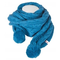 Yvette Knitted Scarf Lagoon