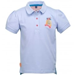 Zinnia Kids/Childs Polo Shirt Hydrangea