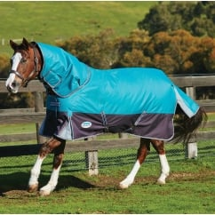 ComFiTec Premium Free Detach-A-Neck Medium Turnout Peacock & Shale