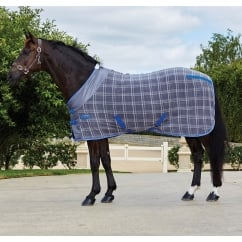 Fleece Cooler Rug Grey Plaid