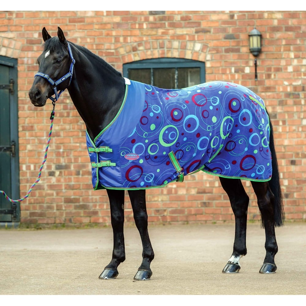 Fleece Cooler Rug Standard Neck Circle Print