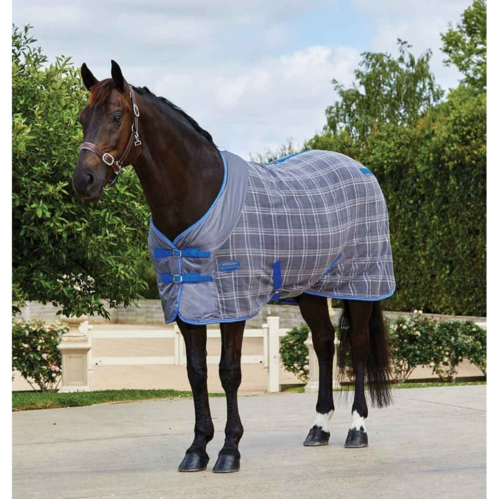 Fleece Cooler Rug Standard Neck Grey Plaid