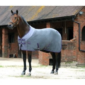 Weatherbeeta Fleece Cooler Rug Standard Neck Slate / Violet