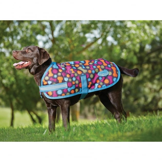 Weatherbeeta Parka 1200d Waterproof Dog Coat Bone Ball Print