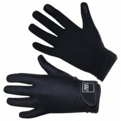 Connect Smart Phone Horse Riding Gloves Black