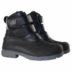 NEW Junior Short Yard Boots Black