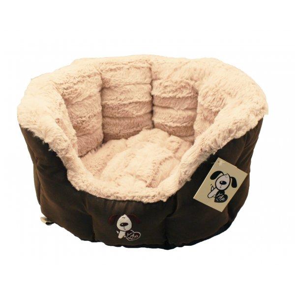 Yap montieri oval dog bed at burnhills - Panier pour chien en bois ...